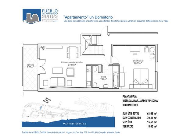 Pueblo Acantilado | Apartments